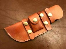 Handmade-Well Stitched Leather Sheath-Tracker-Knife-Belt loop-Outdoors-LS32