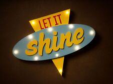 "Pop art style ""Let it shine"" LED Light - retro Lamp Perfect gift"
