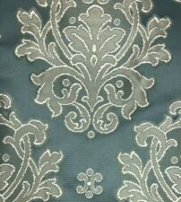 Light Green Shade Damask Floral Pattern Curtain Fabric Material 137cm wide BR275