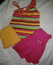 GYMBOREE VINTAGE GIRLS STRAPPY SHIRT SKIRT & PANTS 3 PC SET SIZE 12