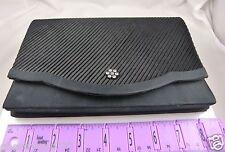 pre-owned black evening bag clutch or shoulder elegant satiny
