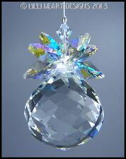 m/w Swarovski Mozart Ball w/ AB Leaves Pineapple SunCatcher Lilli Heart Designs