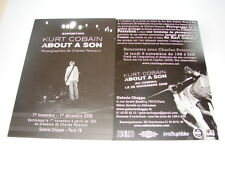 KURT COBAIN ABOUT A SON!!!!!!!!!!!!!!!!RARE FRENCH FYER