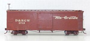 Sn3 Narrow Gauge #3718 D&RGW Rio Grande CAMEL DOOR VERSION BOX CAR ~ T132A
