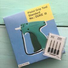 New Pistol Grip Clothes Garmet Tagging Tool Standard Duke III Bonus 4 Needles