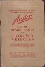 AUSTIN K3 3-TON WW2 TRUCK ORIGINAL 1940 FACTORY ILLUSTRATED PARTS CATALOGUE