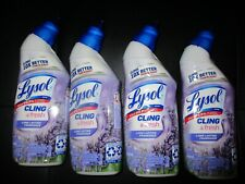 4X LYSOL LAVENDER SCENT TOILET CLEANER CLINGS 10X BETTER THAN BLEACH 8 OZ EACH
