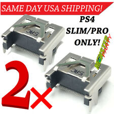 2pc PS4-Hdmi-SLIM-or-PRO-model-ONLY-sony-port-socket-part-Replacement-Connector
