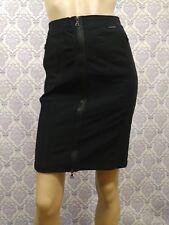 "Marc Cain Sports Skirt Athleisure Black Stretch Zip Pencil Womens N1 28"" Waist"