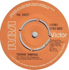 """THE SWEET Teenage Rampage 1974 UK  7"""" vinyl single EXCELLENT CONDITION"""