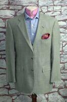 Brooks Brothers Men's Gray Check Silk Linen Wool Sport Coat Blazer 42R 42 R