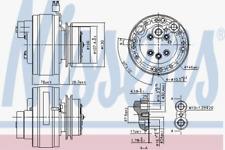 Kompressor, Klimaanlage für Klimaanlage NISSENS 890368