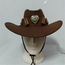 Anime Game Overwatch OW Jesse·Mccree Cowboy Hat Cool Cosplay Accessories Brown L