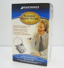 Plantronics S12 Telephone Headset System Convertible & Battery Operated New Box