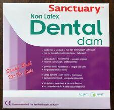 "(FREE SAMPLE PACK 3/PK)  5""x5"" NON LATEX Sanctuary Dental Rubber Dam Medium Mint"