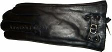 New Woman's Leather Winter Gloves worm Black Leather Gloves Guantes De piel BNWT