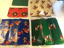 Vtg Xmas Disney Mickey Mouse Wrapping Paper Gift Wrap Minnie Pluto Donald Daffie