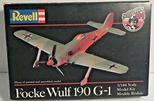 1982 Revell #1030 Model Kit Focke Wulf 190 G-1 Plane 1/144 Scale NIOP