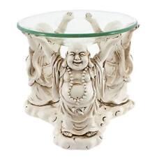 Bouddha Brûleur d'HUILE AROMATIQUE 3 Rigolant Bouddhas verre haut