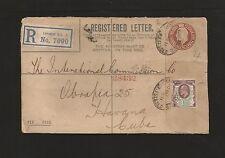 E) 1911 GREAT BRITAIN, 129, A67, POSTAL STATIONARY TO CARIBE, XF