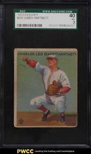 1933 Goudey Gabby Hartnett #202 SGC 3 VG