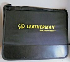 Leatherman Knife Tool Collector's Case 25 Tools Zip Pouch Salesman Sample Black
