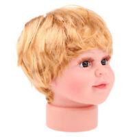 Children Head Mannequin Baby Dolls Shop Window Wig Cap Glasses Display