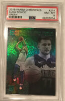 2018 Panini Chronicles Green #214 Luka  Doncic Mavericks RC Rookie PSA 8 MINT 🔥