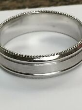 Men's Platinum 950 Wedding Band Ring 6 MM #R1964 new