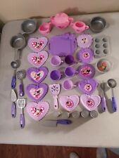 Disney Minnie Mouse Play Food Teapot Dishes Pots Pans Utensils 38 piece Lot
