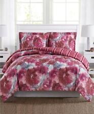 3pc Pem America Tinsley Full Comforter Set Hot Pink Red Watercolor Floral