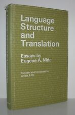 LANGUAGE STRUCTURE AND TRANSLATION - Nida, Eugene - First Edition 1st Printing