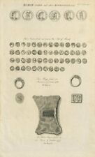 Roman coins Isle of Thanet. Rings Stanmore Common. Ingot Tower of London 1789