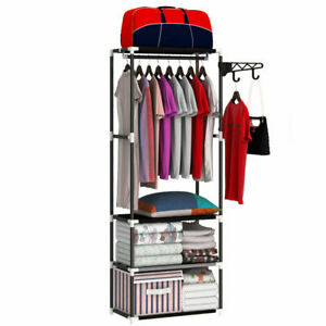 Clothes Rail Shoe Storage Shelf Wardrobe Coat Hanger Bedroom Organizer Display