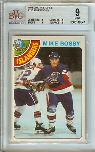 1978-79 O-PEE-CHEE MIKE BOSSY #115 BGS + BVG 9 MINT ROOKIE CARD