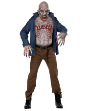 BLOODY CURSED ZOMBIE MASK CHEST & HANDS HALLOWEEN COSPLAY HORROR COSTUME NEW
