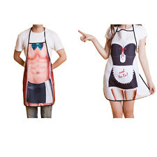 Set of 2 Couple Housekeeper Bow Tie Servant Ooh La La Maid Kitchen Cooking Apron