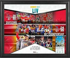 "Kansas City Chiefs Frmd 16"" x 20"" Super Bowl LIV Champs Road to the SB Collage"