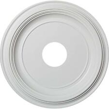 """Cmp16Tr Traditional Thermoformed Pvc Ceiling Medallion, 16""""Od X 3 1/2""""Id 3/8""""P 9"""