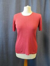 Ladies ribbed style top, ST MICHAEL, size 16, silk, vintage