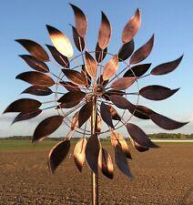 Éolienne Mobile Tuteur Pic Hélices à Vent de Jardin ø61 cm -Neuf
