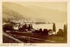 Suisse, Clarens, Vernex, Montreux  Vintage albumen print.  Tirage albuminé