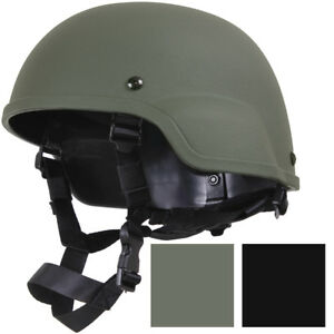 Tactical Hard ABS Helmet + Chin Straps, Modular MICH-2000 Replica Military Army