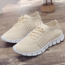 WOMEN LADIES LACE UP SNEAKERS SPORT FLAT TRAINERS PARTY CASUAL SHOES SIZE