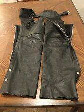 Woman's First Leather Motorcycle Chaps Excellent Size S For Harley Etc