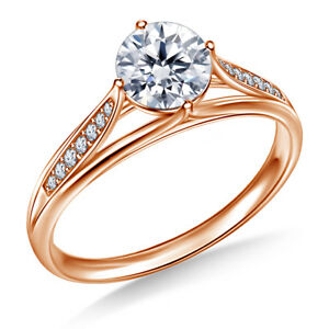 0.80 Ct Round Cut Solitaire Diamond Engagement Wedding Ring 14K Solid Rose Gold