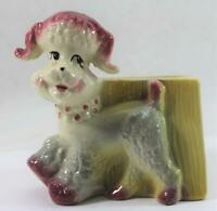 Vintage 1950s Ceramic Fashions French Poodle Dog Planter By OPCO