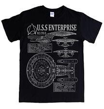 STAR TREK - NEXT GENERATION ENTERPRISE - S - 5XL T-shirt blueprints specs picard