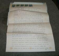 1931 NEWFOUNDLAND Indenture DOCUMENT with 5 INLAND REVENUE Stamps