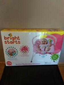 Bright Starts Pretty Pink Butterfly Dreams Bouncer